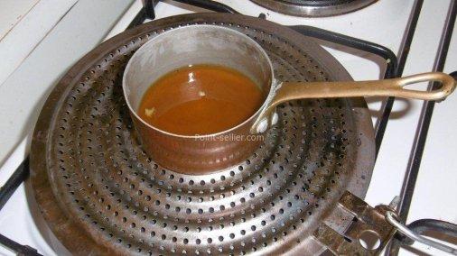 La cire fondue