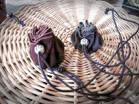 Patron cuir simple, fabriquer une bourse ronde en une seule pièce, idéal avec les enfants et pour reconstitution historique