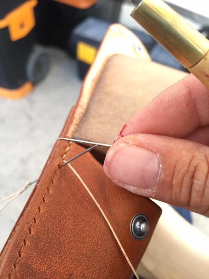 patron étui couteau pliant en cuir patron libre et gratuit à télécharger