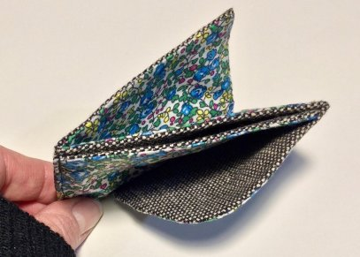 Porte carte origami en cuir patron libre et gratuit à télécharger