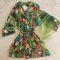 Gown - Black Tropical