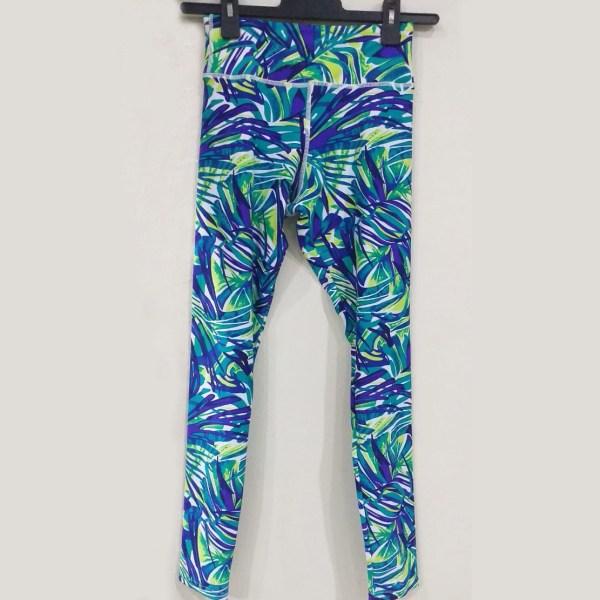 Leggings - Purple Palm Fronds