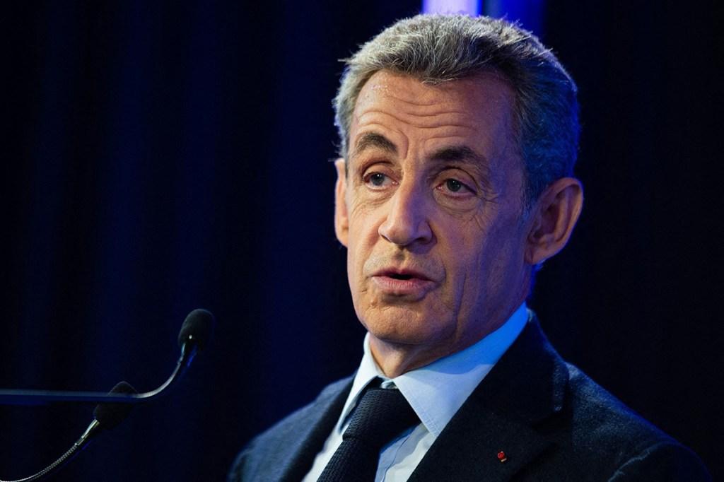 "Former French president Nicolas Sarkozy speaks at the ""Grand Paris"" summit in Paris, France on September 29, 2020. Photo by Raphael Lafargue/ABACAPRESS.COM  | 743368_048 Paris France"