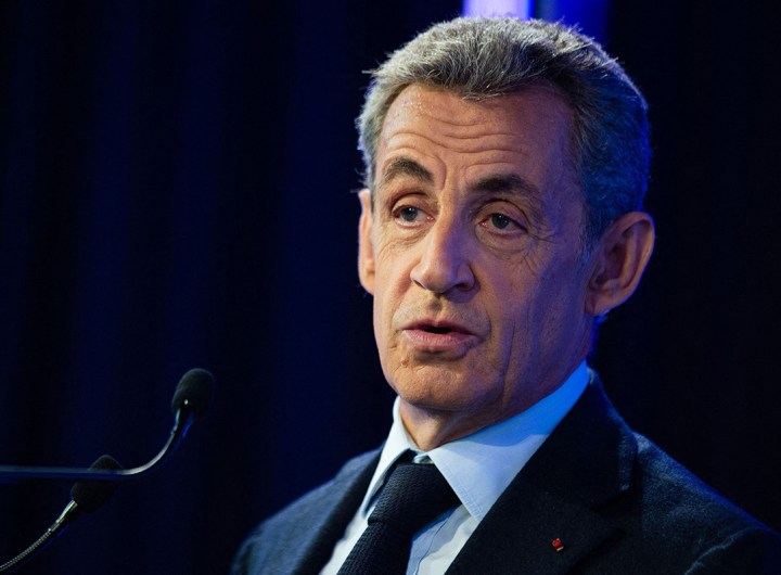 "Former French president Nicolas Sarkozy speaks at the ""Grand Paris"" summit in Paris, France on September 29, 2020. Photo by Raphael Lafargue/ABACAPRESS.COM  