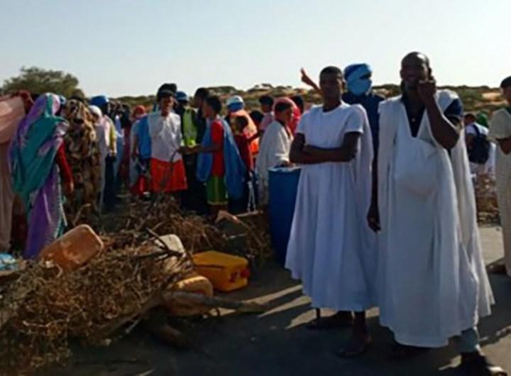 manifestation-contre-les-penuries-d-eau-a-boutarvaya-mauritanie