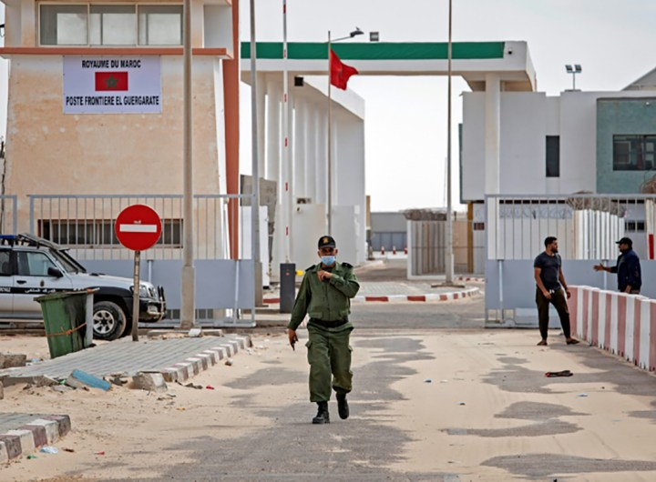 le front polisario bombarde Guerguerat