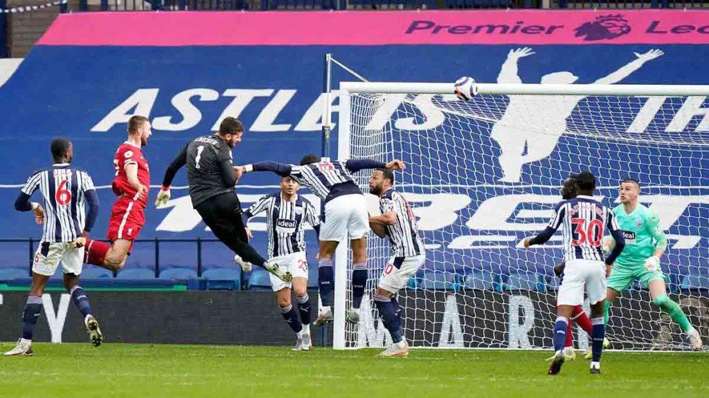 Angleterre: Alisson marque le but de la victoire contre West Bromwich