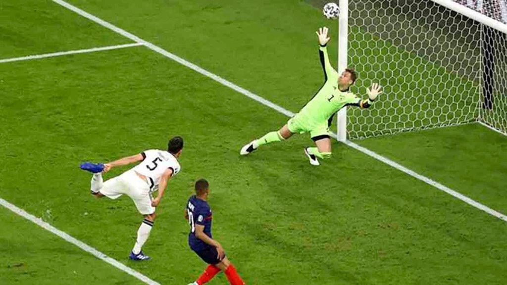 Euro-2021: La France bat l'Allemagne 1-0 avec un but du défenseur Allemand Hummels