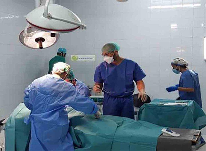 Interventions chirurgicales d'une mission médicale espagnole