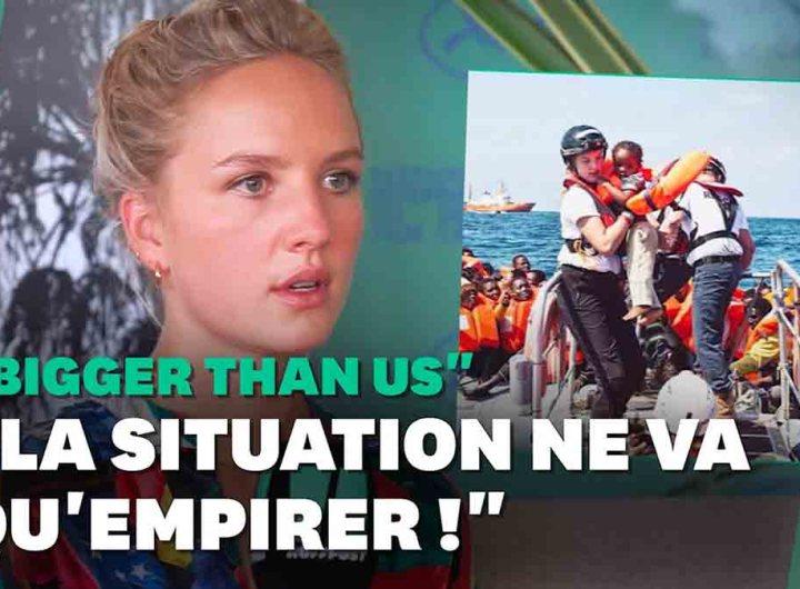 """À 24 ans, elle secourt des migrants en Méditerranée et dénonce ceux qui """"s'en fichent"""""""
