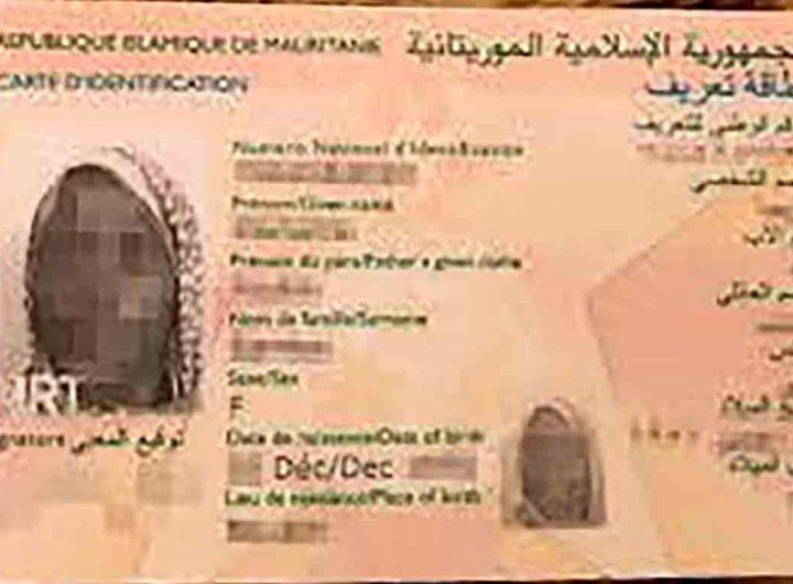 Institution d'une nouvelle carte d'identité nationale en Mauritanie