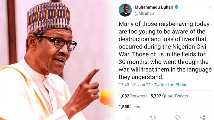 Civil War Post: Buhari and the Awolowo Six Million Reminder; as Lai Mohammed gloves for Twitter