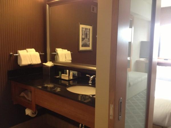 Bathroom in the Club Level Room Hilton San Francisco Financial District