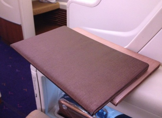 Menu onboard Thai Airways First Class A380