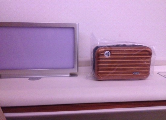 Thai Airways First Class A380 Mood lighting screen and Amenity Kit