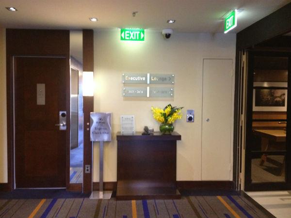 Review Hilton Sydney Executive Club Lounge Entrance