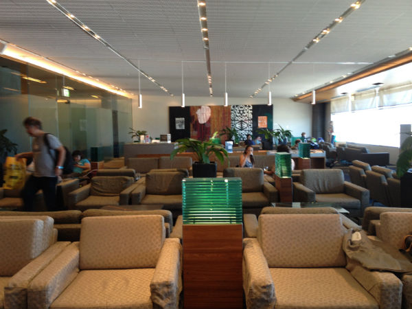 Seating at the Air New Zealand Business Class Lounge
