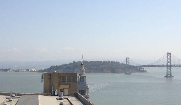 View from the Regency Club Lounge at the Hyatt Regency San Francisco