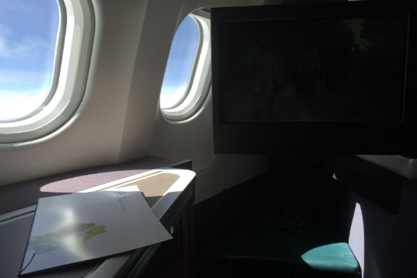 Cathay Pacific Business Class A330-300 Hong Kong to Singapore