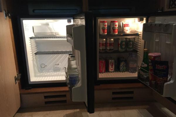 The two mini fridges