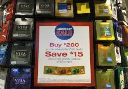 Visa gift cards at Safeway on Sale