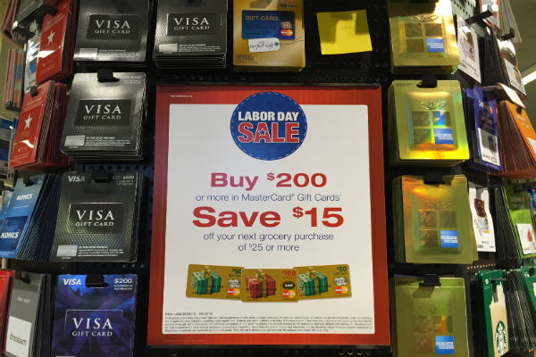 Visa gift cards at Safeway on Sale