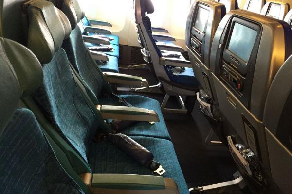 Cathay Pacific Economy Class Bali to Hong Kong
