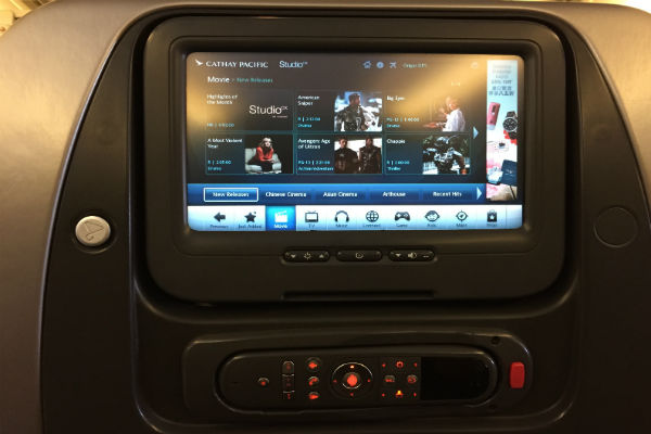 Cathay Pacific IFE