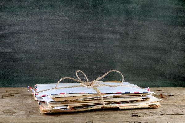 Mail letters envelopes