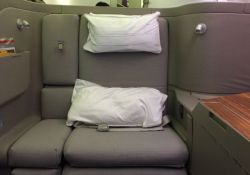 Cathay Pacific first class seat flight 872 from Hong Kong to San Francisco