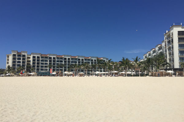Hyatt Ziva Los Cabos as seen from the Beach