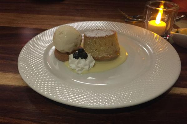 Santiago Almond Tarte Dessert at Hyatt Ziva Los Cabos Spanish Restaurant