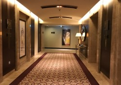 Hallway and elevators at Conrad Dubai Hotel