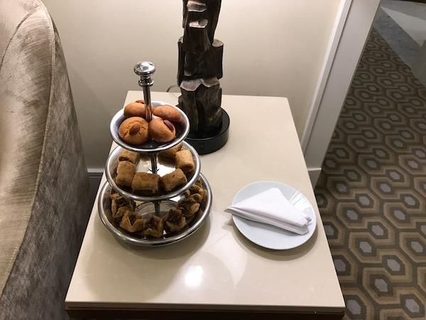 Conrad Makkah Suite Baklava Tray Hotel Review