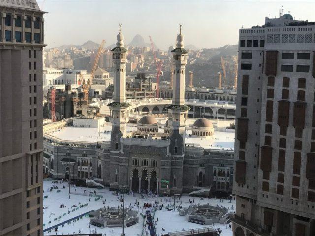 King Fahad Gate of Masjid Al Haram in Mecca During Umrah