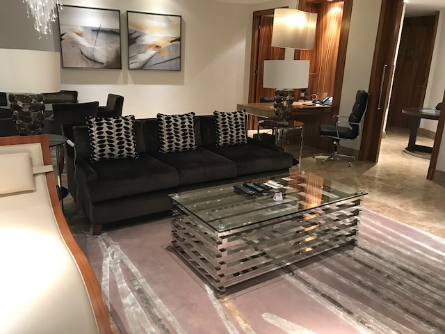 Hyatt Capital Gate Executive Suite Living Room