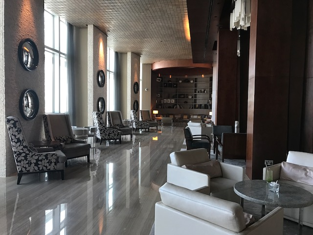 My favorite hang-out spot at the Hyatt Capital Gate Abu Dhabi