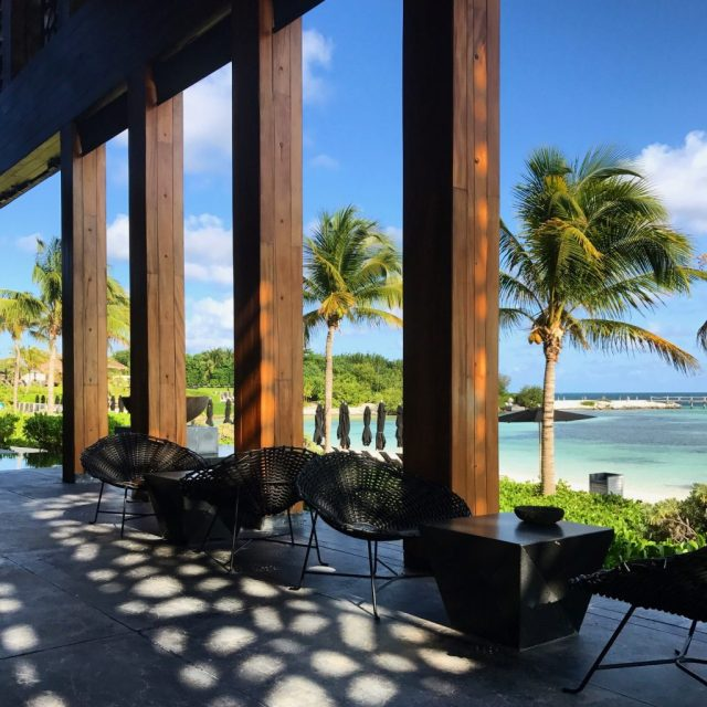 Nizuc Resort Cancun Restaurant outdoor seating by the beach