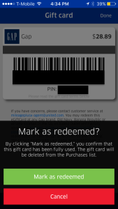United MileagePlus X App Gift Card Redeemed