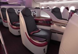 Qatar Airways A350 New Business Class Seat