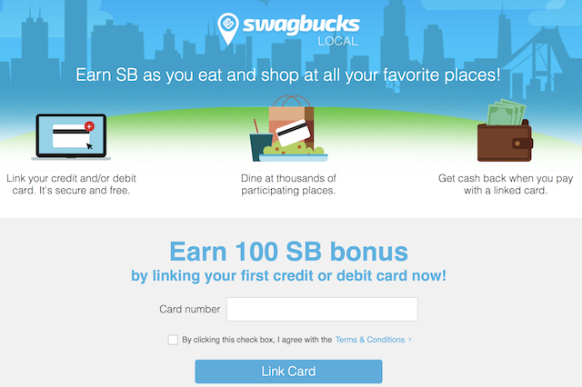Swagbucks Local 10% Cash Back at Restaurants