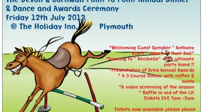 The Devon & Cornwall Point-To-Point Annual Dinner & Dance, and Awards Ceremony