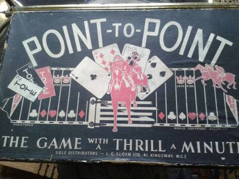 Vintage 1930s Point-To-Point Boardgame that was available for sale on the stand at last year's meeting