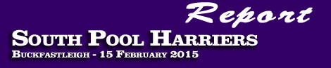 REPORT ON THE SOUTH POOL HARRIERS POINT-TO-POINT AT BUCKFASTLEIGH  SUNDAY 15th FEBRUARY