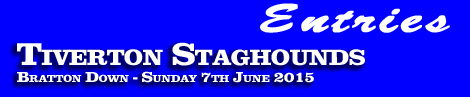 Tiverton Staghounds Point-To-Point entries and form, Bratton Down, Sunday 7th June 2015