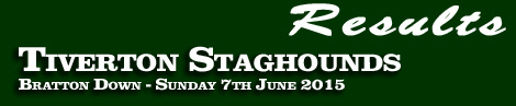 Results: Tiverton Staghounds Point-To-Point, Bratton Down, 7th June 2015