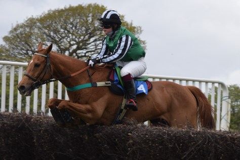 Holly Anne-Drowne riding Quinto at the 2021 Eggesford point-to-point