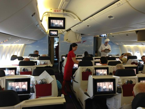 Austrian Airlines Business Class Cabin on B777