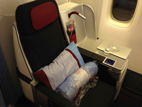Austrian Airlines Business Class Seat