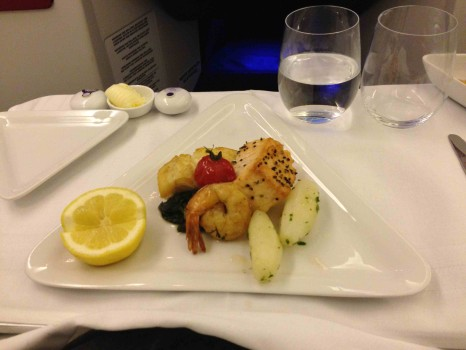 Austrian Airlines Business Class Meal